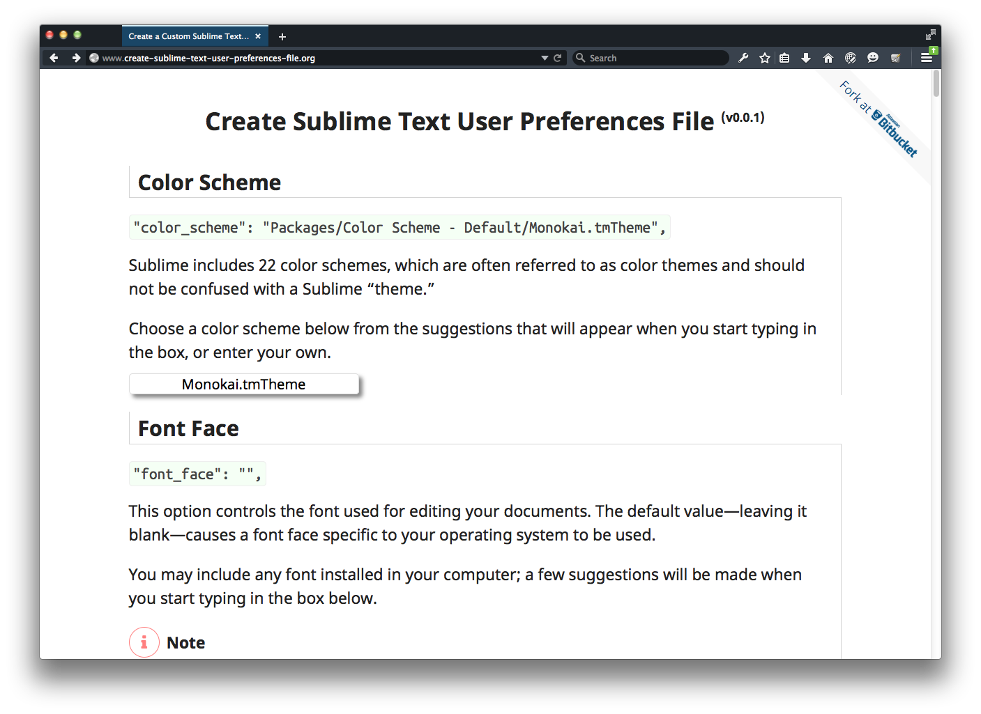 Screen Shot of http://www.create-sublime-text-user-preferences-file.org/